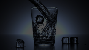 tap water color shown in glass with ice